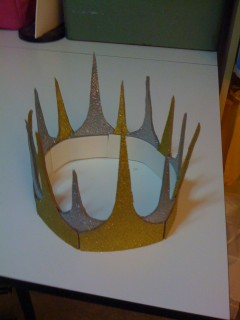 Crafty Crown of Sparklyness, assembled