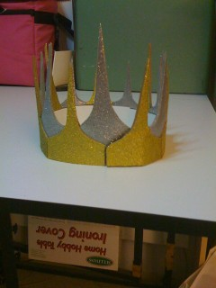 Crafty Crown of Sparklyness, rear view