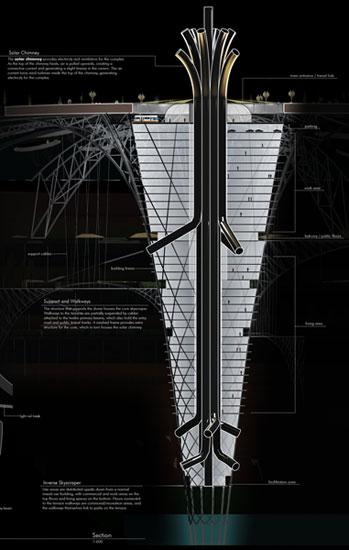 небоскреб наоборот, проект
