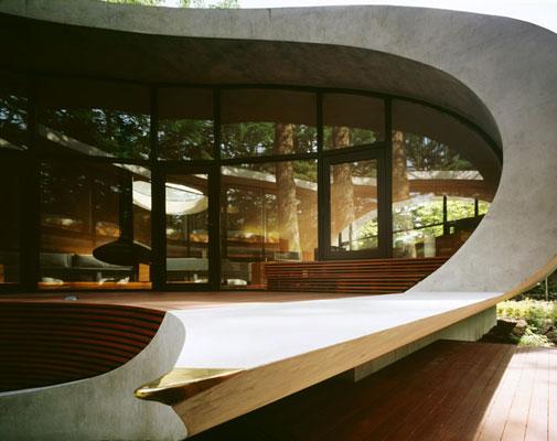 дом-ракушка, япония