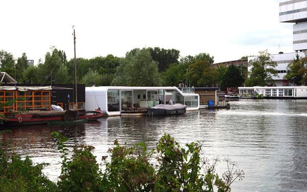 вилла на воде, нидерланды