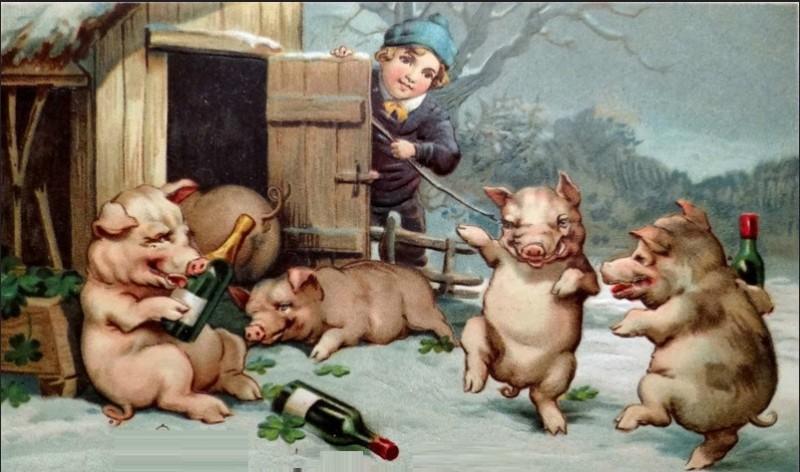 Днем сельского, смешные картинки к новому году свиньи