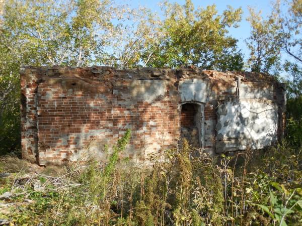 Стена дома при мельнице