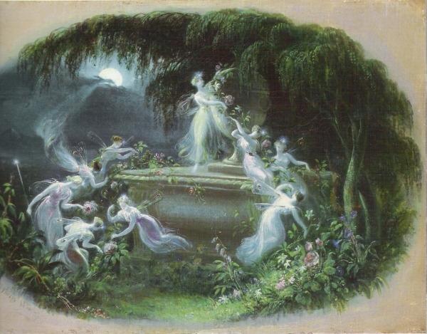 Эдмунд Томас. Встреча в лунном свете, 1832