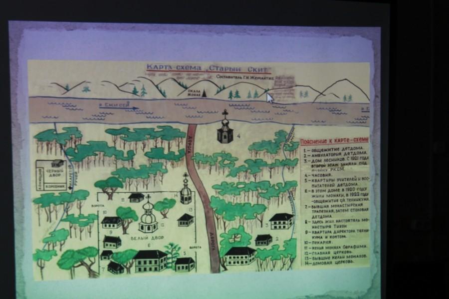 карта-схема скита