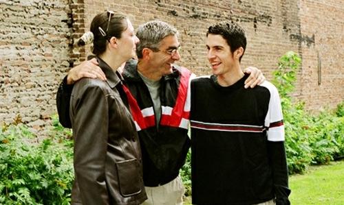 Жан Беливо с сыном и дочерью