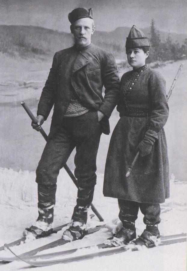 Нансен познакомился со своей будущей женой - Евой Сарс, рассекая на лыжах горные склоны