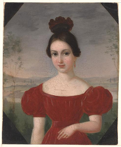 Франсуа Фляйшбайн. Портрет Марии-Луизы Тету. 1833-1836 гг.