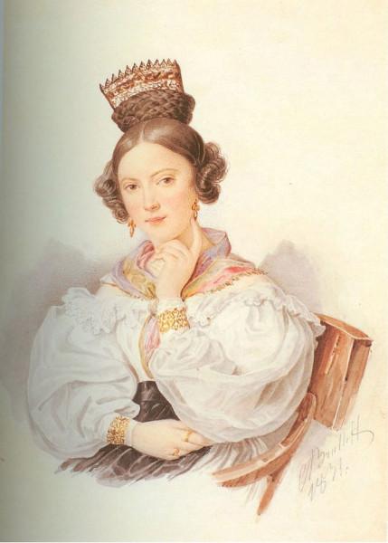 А. Брюллов. Портрет С. А. Волковой. 1831 г.