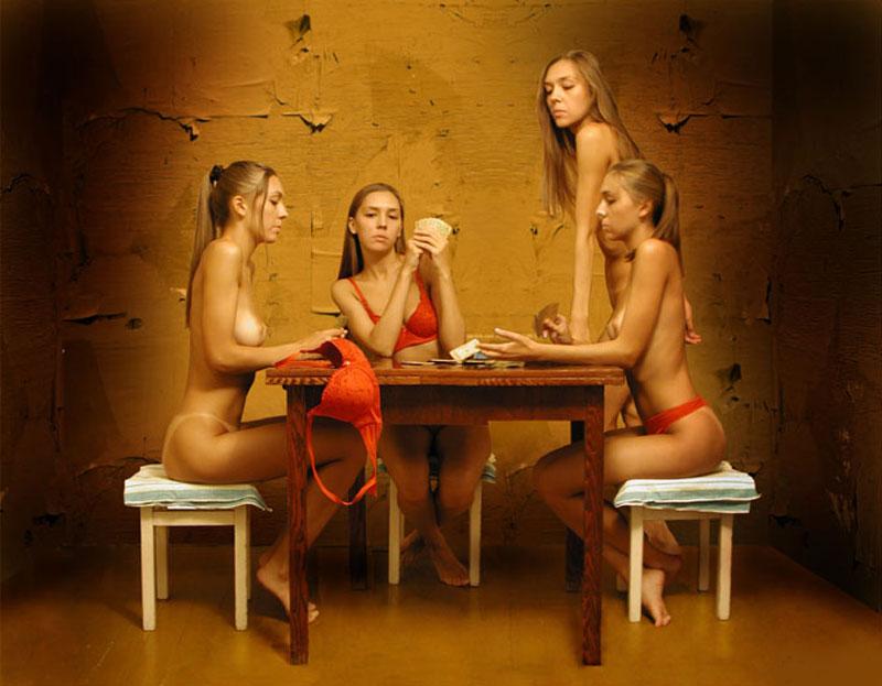 Русское порно в карты на раздевание на кухне — pic 13