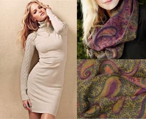песочное + шарф