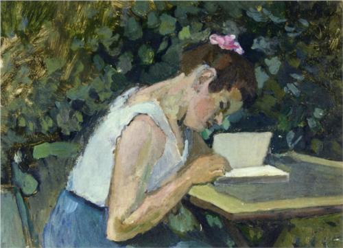 Матисс_читающая девочка