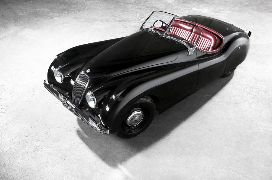 Jaguar xk 120 roadster - самая красивая машина в мире времен 50-х годов 1