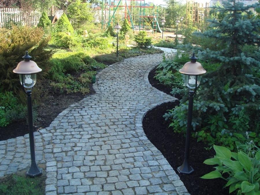 Красивый гранитный садовый бордюр на вашей даче 2
