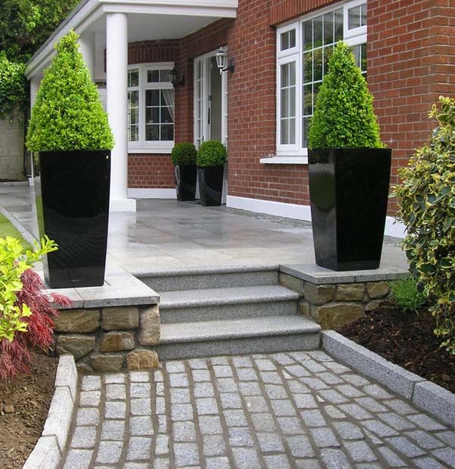 Красивый гранитный садовый бордюр на вашей даче 5