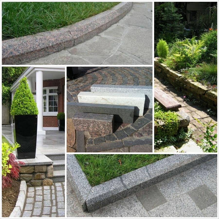 Красивый гранитный садовый бордюр на вашей даче