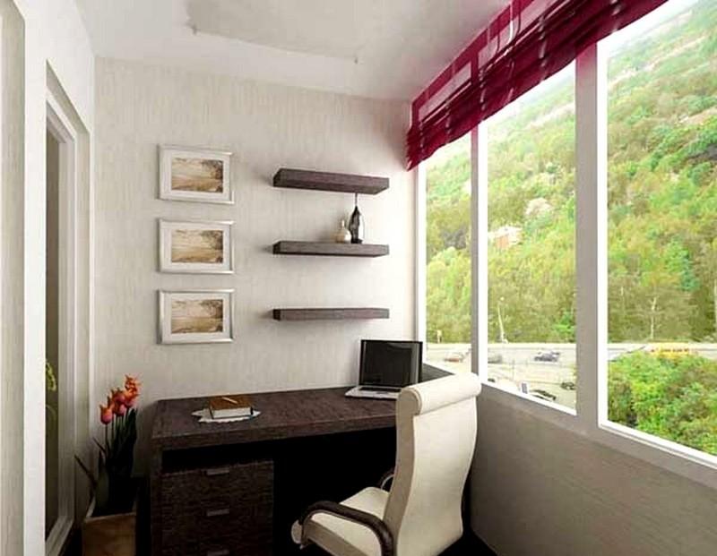Рабочий кабинет на балконе или лоджии - power of art.