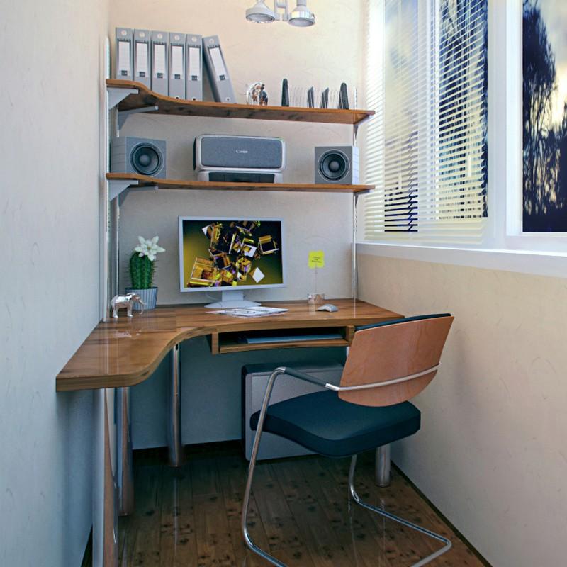 Фото компьютерных столов на лоджию.