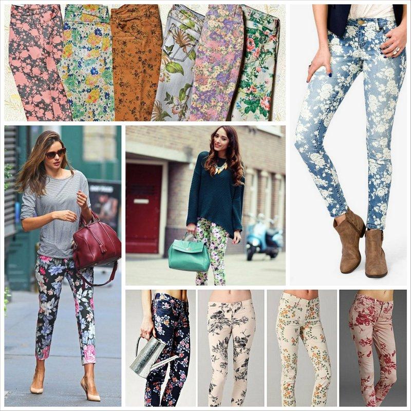 Рисунки на джинсах из цветов - модно или безвкусно