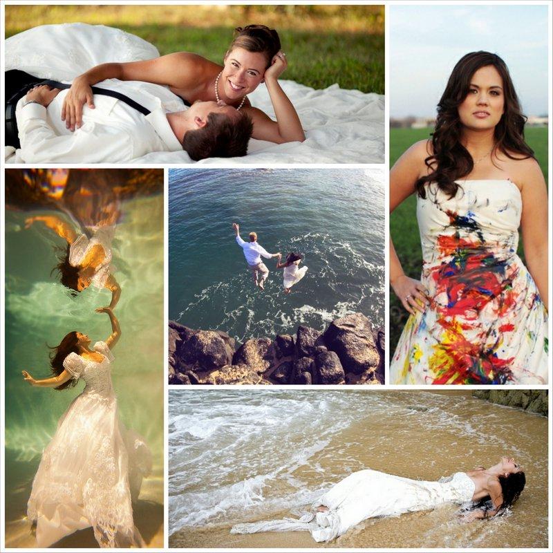 Свадебная фотосессия на природе в стиле Trash the Dress