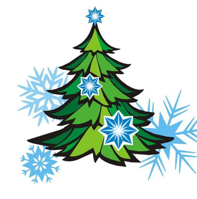 новогодняя елка картинка