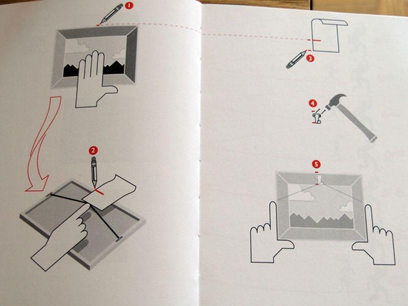 Как повесить картину на стену 1