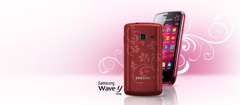 Женский смартфон Samsung S5380 Wave Y 2