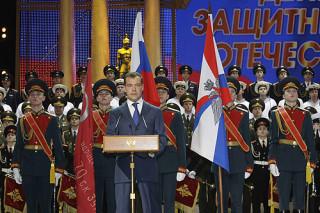 Дмитрий Медведев присутствовал на торжественном вечере, посвящённом Дню защитника Отечества.
