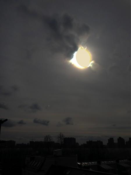 Солнечное затмение в Питере