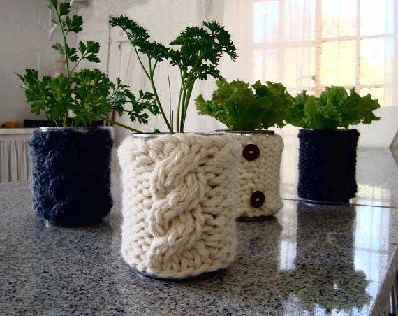 теплое кашпо для цветов