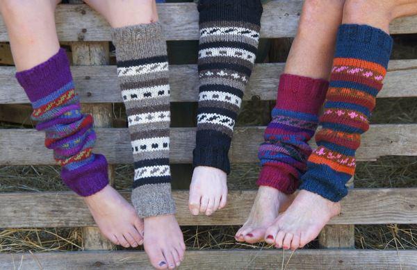 гетры из старого свитера