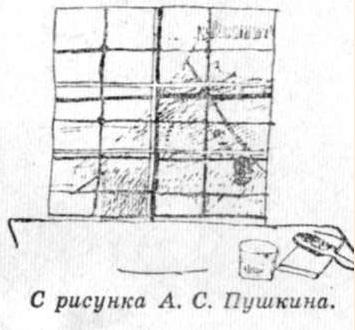 Рисунок Пушкина. Чернильница