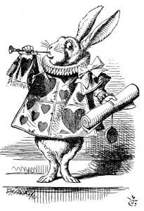 Белый кролик с указом