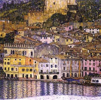 Климт_Malcesine_on_Lake_Garda_f