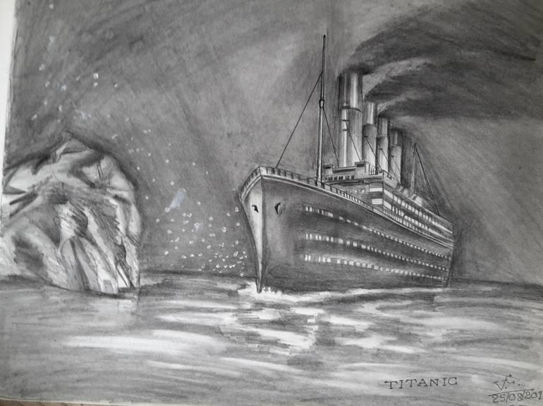 Рисунки титаника карандашом