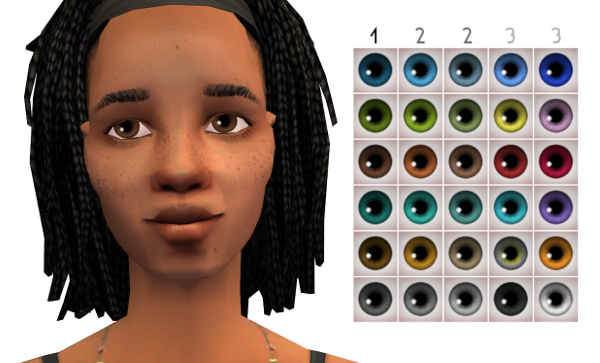 A Set Of Maxis Match Eyes On Maxis Sclera One Day We Ll