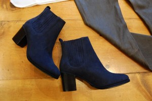 opening ceremony navy suede brenda boot ankle boot.JPG