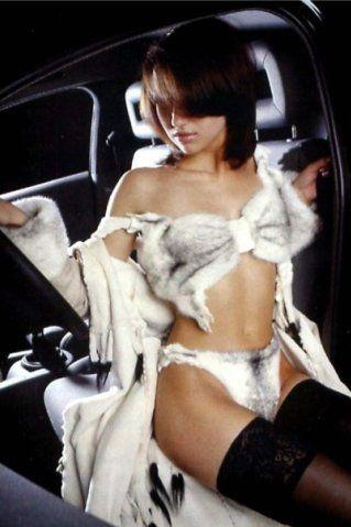 эротические фото девушек в меховом белье