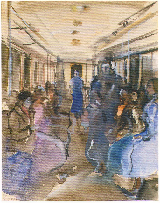 Из серии Москва. В метро. 1954 Лабас