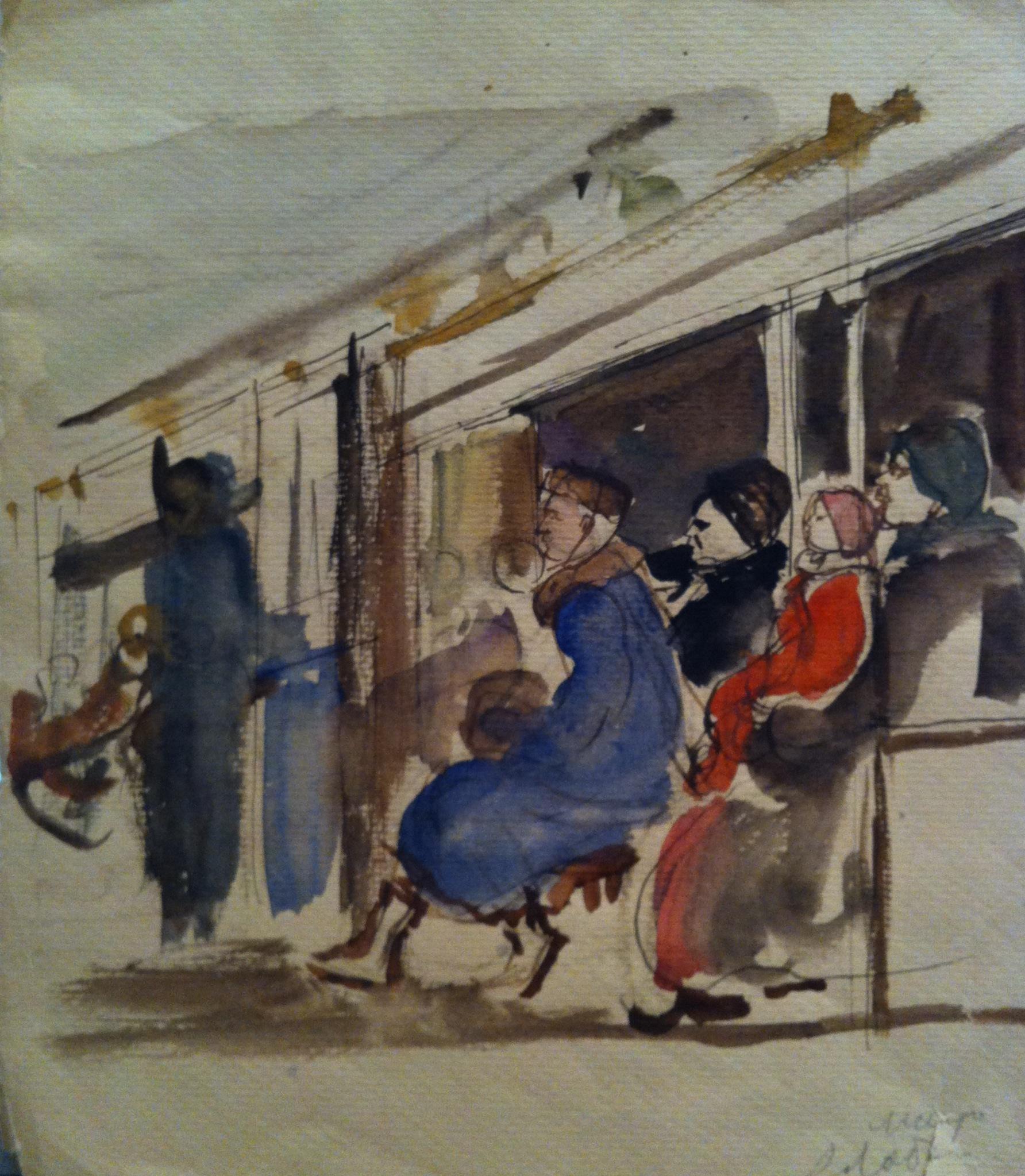 Лабас  «В метро»