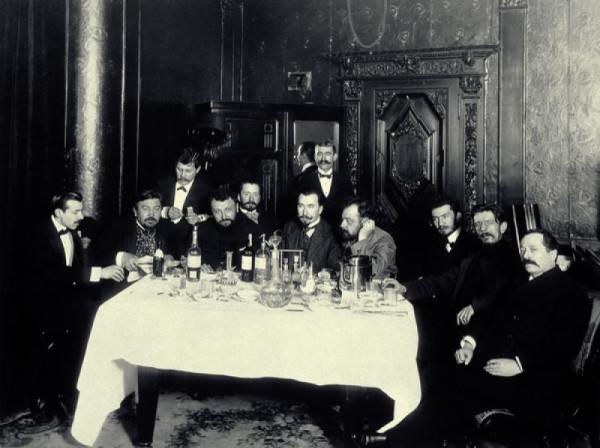 Александр Куприн с друзьями в ресторане