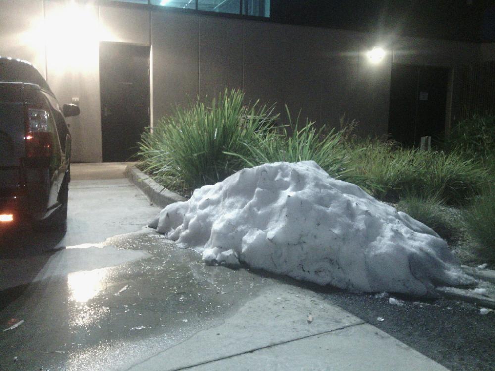 snow in melbourne, docklands