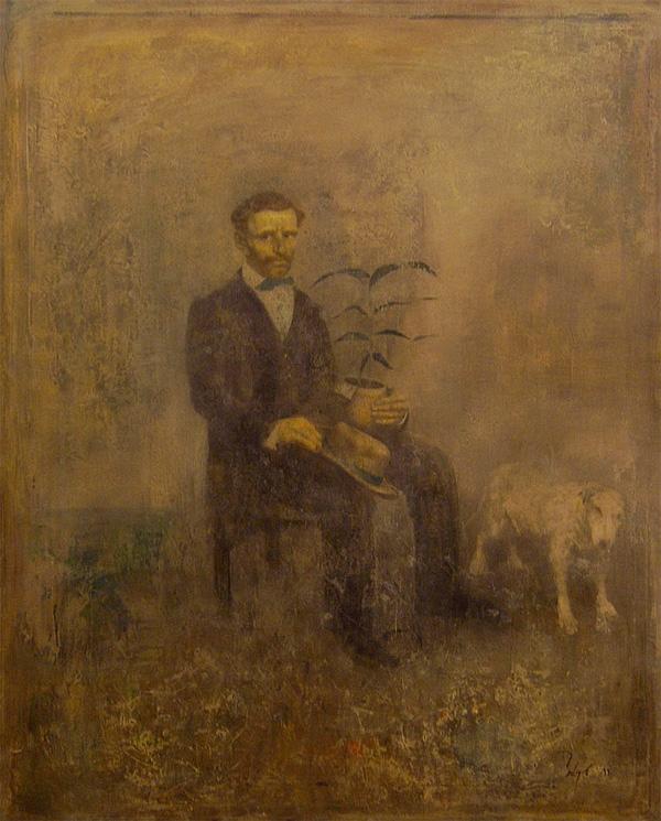 Борис Заборов, «Мужчина с цветочным горшком»