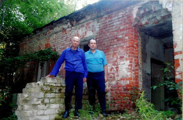 В селе Городищи с сыном Александром, 2008 г.