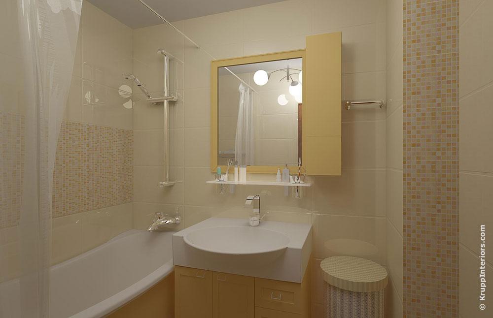 Дизайн ванной комнаты 2 на 2 фото