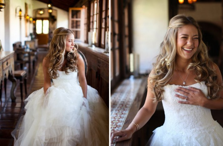Свадебные прически распущенные на средние волосы