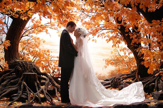 осенней свадьбы фото