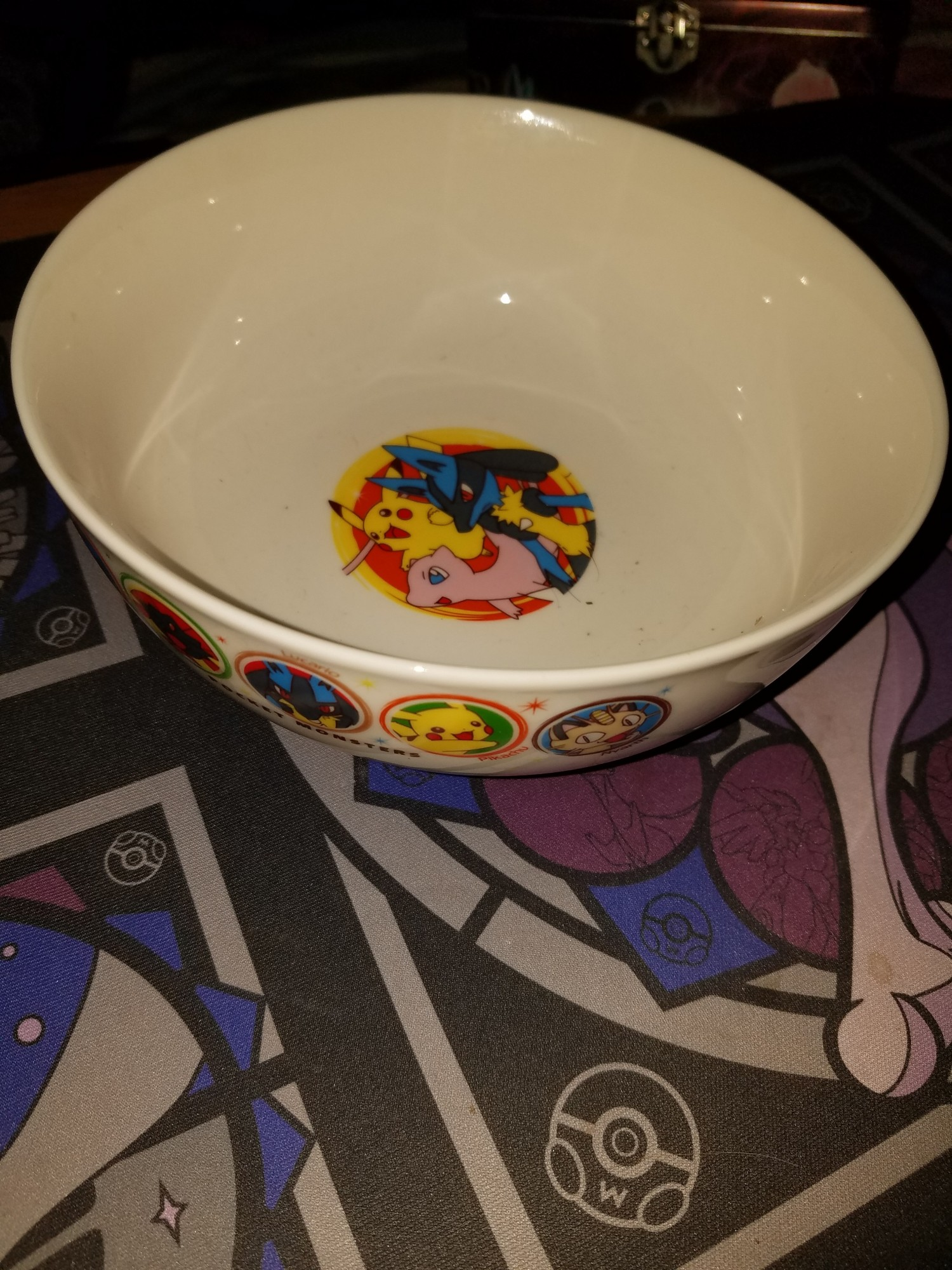 I.  Don't even remember where I got this bowl from.  I also don't know where that debris in it came from.  I think some ghost Pokemon have been using my dishes.  >:\