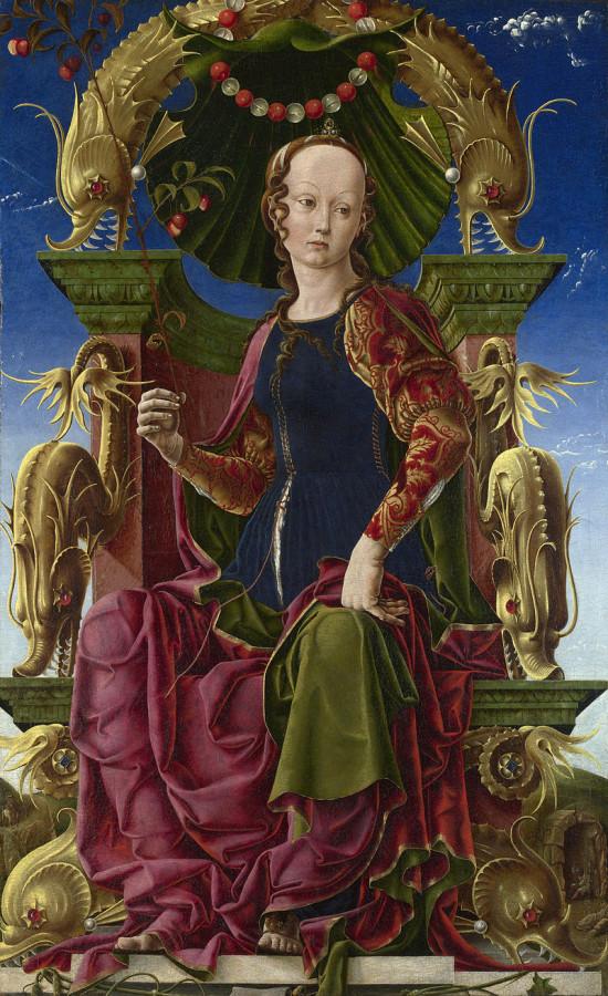 Козимо Тура - Каллиопа - Весна 1460 - для студиоло дворца Бельфоре близ Феррары