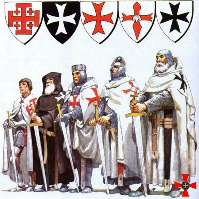 1099 год — орден Гроба Господня  1099 год — орден Госпитальеров   1118 год — орден Тамплиеров 1160 год — орден Сантьяго  1190 год — Тевтонский орден (2)